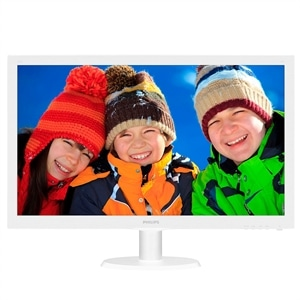 "Monitor 21.5"" Philips 223V5LHSW  LED  Widescreen  VGA  HDMI  Vesa  Branco (Emb. contém 1un.)"