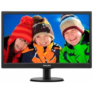 "Monitor 23.6"" Philips 243V5QHABA  LED  Widescreen  VGA  HDMI  Vesa  Speaker  Preto (Emb. contém 1un.)"