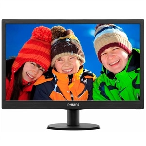 "Monitor 18.5"" Philips LED Wide 193V5LSB2 Preto (Emb. contém 1un.)"