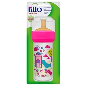 Mamadeira Lillo Super Divertida Latex Rosa (Emb. contém 1un. de 260ml)