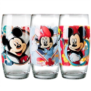 Copo Nadir Decorado Long Drink Turma do Mickey 4302 (Emb. contém 24un. de 430ml cada)
