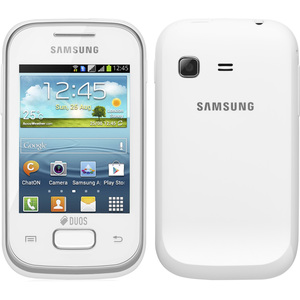 "Smartphone Samsung Galaxy Pocket S5302 Branco  Dual Chip  Tela 2.8""  3G+WiFi  Android 2.3  832Mhz  2MP 3GB  (Emb. contém 1un.)"