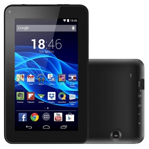 "Tablet M7-S NB184  Quad Core   Preto   Tela 7""  WiFi   Android 4.4   2MP   8G (Emb. contém 1un.) - Multilaser"