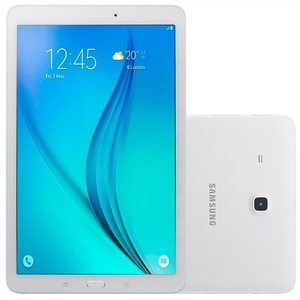 "Tablet Samsung Galaxy Tab E T560  Branco  Tela 9.6""  Android 4.4  Quad Core 1.3Ghz  5MP e 2MP  8GB (Emb. contém 1un.)"
