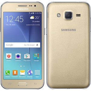 "Smartphone Samsung Galaxy J2 Dourado  Dual Chip  Tela 4.7""  4G+WiFi  Android 5.1  Quad Core 1.1Ghz  5MP e 2MP 8GB TV Digital (Emb. contém 1un.)"