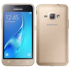 "Smartphone Samsung Galaxy J1 J120H  Dourado  Dual Chip  Tela 4.5"" Super Amoled  3G+WiFi  Android 5.1  Quad Core 1.2Ghz  5MP e 2MP 8GB (Emb. contém 1un.)"