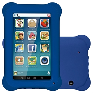"Tablet Multilaser NB194 Tela 7""  Kid Pad  Android 4.4  8GB  Quad Core 1.2Ghz  2MP  Aplicativos Infantis  Azul (Emb. contém 1un.)"