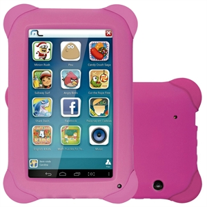 "Tablet Multilaser NB195 Tela 7""  Kid Pad  Android 4.4  8GB  Quad Core 1.2Ghz  2MP  Aplicativos Infantis  Rosa (Emb. contém 1un.)"
