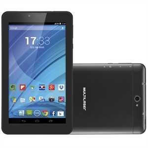 "Tablet M7 Multilaser NB223 Dual Chip  Tela 7""  Preto  3G+WiFi  Quad Core 1.3Ghz  Android 4.4  2MP 8GB  Expansível 32GB (Emb. contém 1un.)"