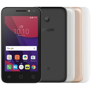 "Smartphone Alcatel PIXI4 4034E  Metallic  Dual Chip  Tela 4""  3G+WiFi  Quad Core 1.3Ghz  Android 6.0  8MP e 5MP 8GB  com 3 Capas (Emb. contém 1un.)"