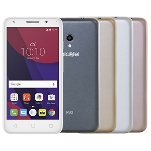 "Smartphone Alcatel PIXI4 5045J Colors Metallic  Dual Chip  Tela 5""  4G + Wi-Fi  Android 6.0  Quad Core 1.0Ghz  8MP 8GB  1GB RAM  com 4 Capas (Emb. contém 1un.)"