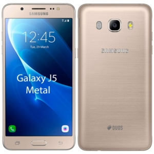 "Smartphone Samsung Galaxy J5 Metal  J510M  Dourado  Dual Chip  Tela 5.2"" Super Amoled  4G+WiFi+NFC  Full HD  Android 6.0  Quad Core 1.2Ghz  13MP e 5MP 16GB (Emb. contém 1un.)"