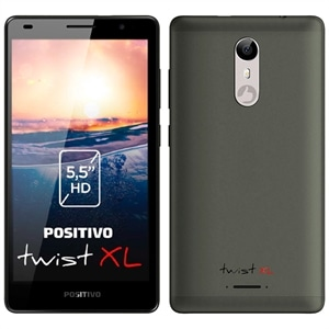 "Smartphone Positivo Twist XL S555  Cinza  Dual Chip  Tela 5.5"" IPS HD  3G+WiFi  Android 7.0  5MP e 8MP com Flash  16GB (Emb. contém 1un.)"