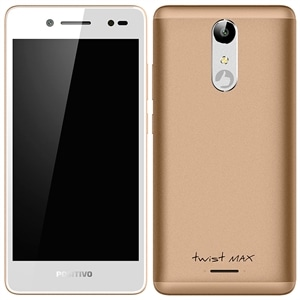 "Smartphone Positivo Twist Max  Dual Chip  Dourado  Tela 5""  3G+WiFi  Android 7.0 Nougat  8MP  16GB"