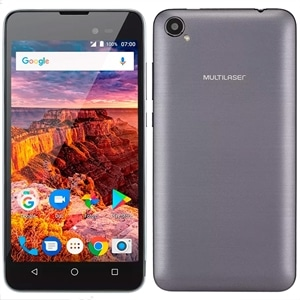 """Smartphone Multilaser MS50L Dual Chip Grafite Tela 5"""" 3G+WiFi  Android 7.0  8MP  8GB"""