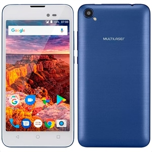 "Smartphone Multilaser MS50L Dual Chip Azul Tela 5"" 3G+WiFi  Android 7.0  8MP  8GB"
