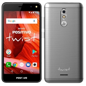 "Smartphone Positivo Twist  Dual Chip  Cinza  Tela 5""  3G+WiFi Android 7.0  8MB  16GB"