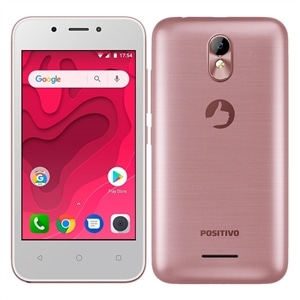 "Smartphone Positivo Twist Mini Dual Chip  Rosa  Tela 4""  3G+WiFi  Android Oreo  5MP  8GB"