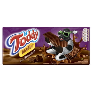 Biscoito Toddy Wafer  Brownie de Chocolate (Emb. contém 40un. de 147g cada)
