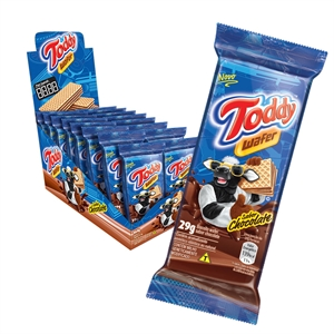 Biscoito Toddy Mini Wafer Chocolate (Emb. contém 16un. de 29g cada)