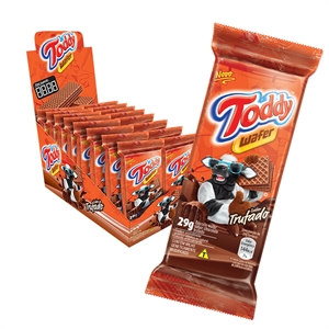 Biscoito Toddy Mini Wafer Chocolate Trufado (Emb. contém 16un. de 29g cada)