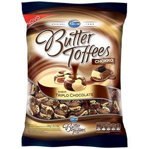 Bala Butter Toffees Chokko Triplo Chocolate 600g - Arcor