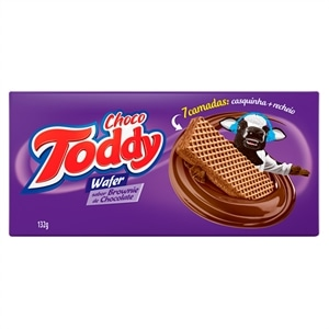 Biscoito Toddy Wafer Brownie de Chocolate (Emb. contém 45un. de 132g cada)