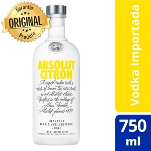 Vodka Importada Absolut Citron (Emb. contém 1un. de 750ml)