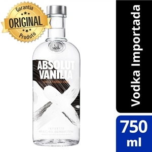 Vodka Importada Absolut Vanilia (Emb. contém 1un. de 750ml)