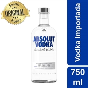 Vodka Importada Absolut Natural (Emb. contém 1un. de 750ml)