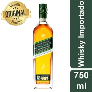 Whisky Importado Johnnie Walker Green Label 15 Anos (Emb. contém 1un. de 750ml)