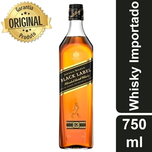 Whisky Importado Johnnie Walker 12 Anos Black Label (Emb. contém 1un. de 750ml)